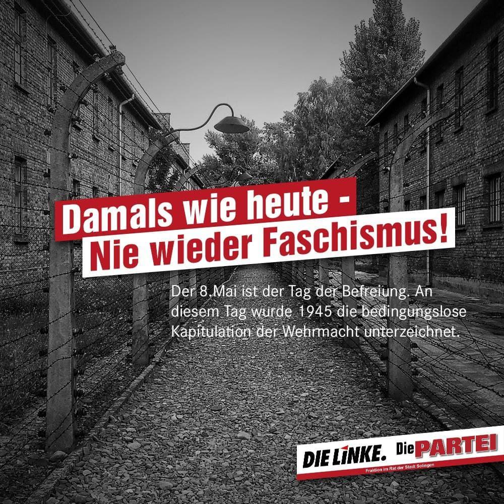 Damals wie heute: Nie wieder Faschismus!