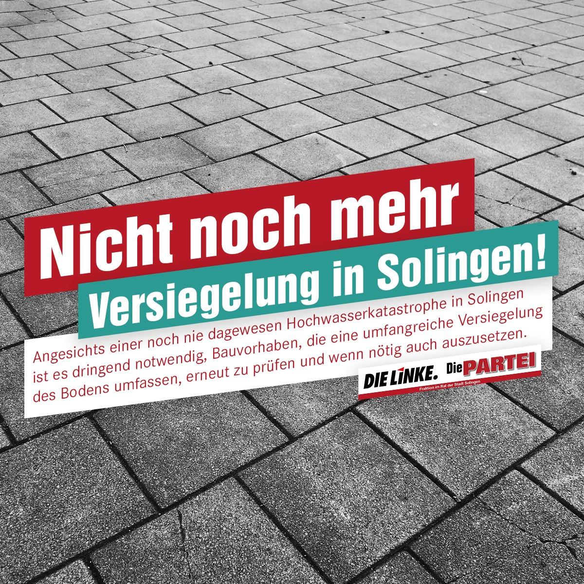Nicht noch mehr Versiegelung in Solingen!