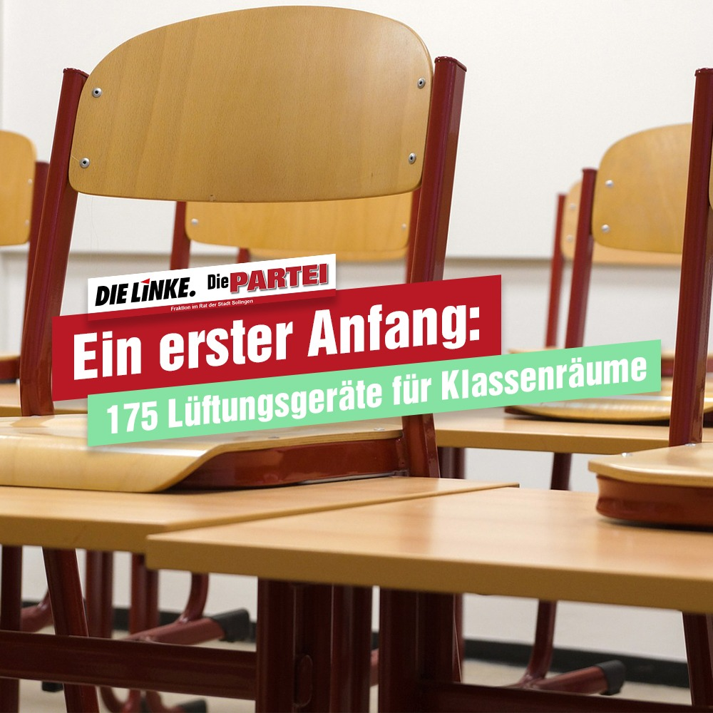 Ein erster Anfang: 175 Lüftungsgeräte für Klassenräume